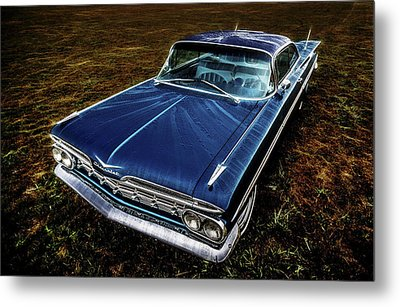 1959 Chevrolet Impala Metal Print by motography aka Phil Clark