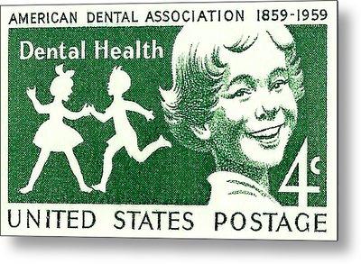 1959 Dental Health Postage Stamp Metal Print