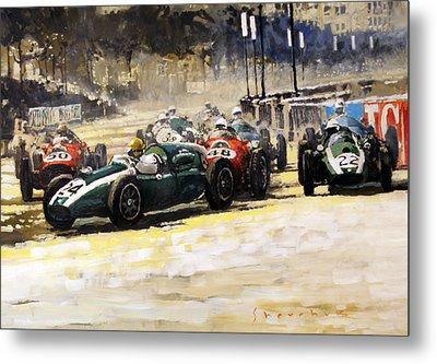 1959 Monaco Gp  #24 Cooper Climax T51 Jack Brabham Winner  Metal Print by Yuriy Shevchuk