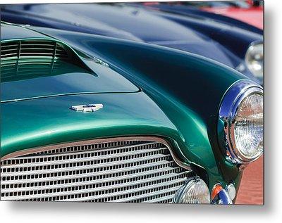 1960 Aston Martin Db4 Series II Grille - Hood Emblem Metal Print by Jill Reger