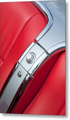 1960 Chevrolet Corvette Compartment Metal Print by Jill Reger
