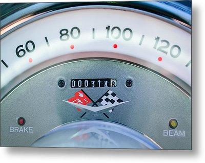 1960 Chevrolet Corvette Speedometer Metal Print