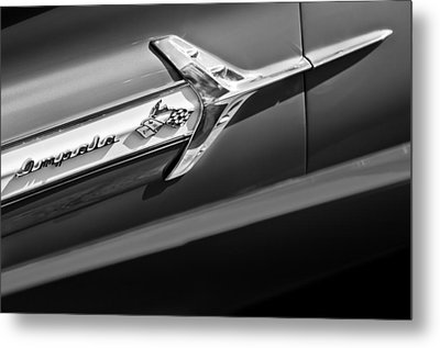 1960 Chevrolet Impala Side Emblem Metal Print by Jill Reger