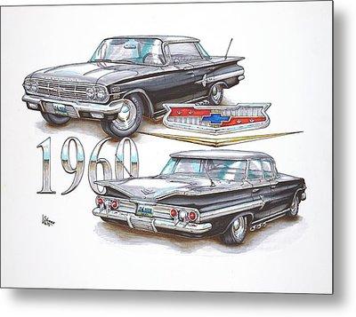 1960 Chevrolet Sports Sedan Metal Print