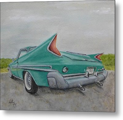 Metal Print featuring the painting 1960 Classic Saratoga Chrysler by Kelly Mills