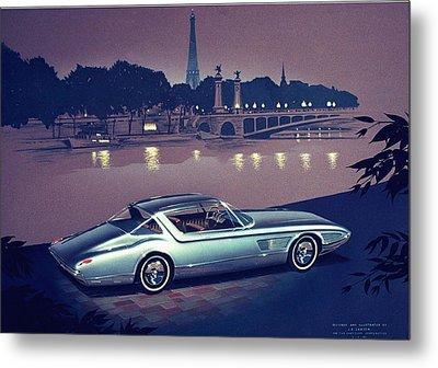 1960 Desoto  Vintage Styling Design Concept Painting Paris Metal Print