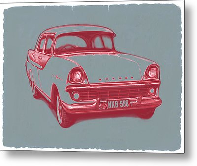 1960 Fb Holden Car Art Sketch Poster Metal Print