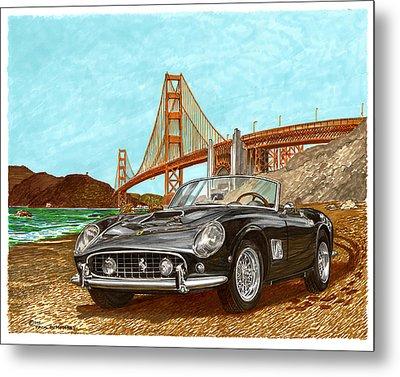 1960 Ferrari 250 California G T Metal Print by Jack Pumphrey