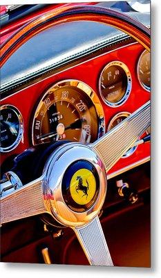 1960 Ferrari 250 Gt Cabriolet Pininfarina Series II Steering Wheel Emblem -1319c Metal Print by Jill Reger