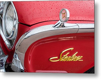 1960 Ford Galaxie Starliner Hood Ornament - Emblem Metal Print by Jill Reger