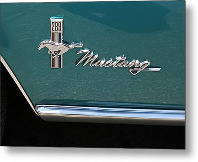 1960 Mustang  Metal Print by Suzanne Gaff