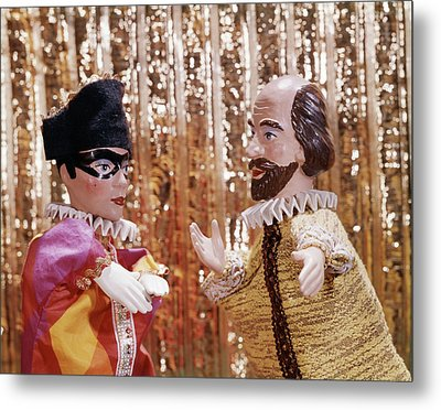 1960s 1970s Hand Puppets Show Harlequin Metal Print
