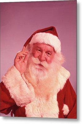 1960s Portrait Of Smiling Santa Claus Metal Print