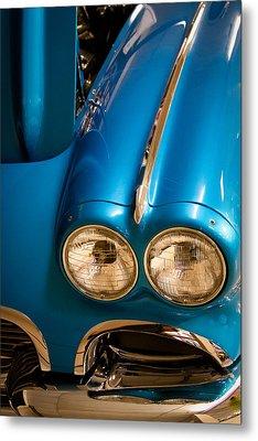 1961 Chevrolet Corvette IIi Metal Print by David Patterson