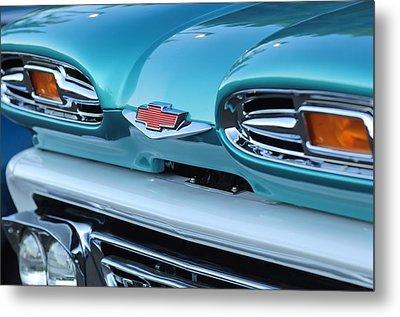 1961 Chevrolet Headlights Metal Print by Jill Reger