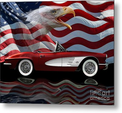 1961 Corvette Tribute Metal Print