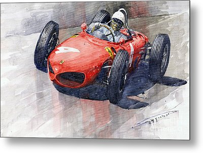 1961 Germany Gp Ferrari 156 Phil Hill Metal Print by Yuriy Shevchuk