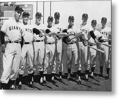 1961 San Francisco Giants Metal Print by Underwood Archives