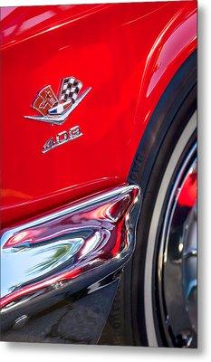 1962 Chevrolet Impala Ss 409 Emblem Metal Print by Jill Reger