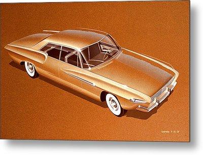 1962 Desoto  Vintage Styling Design Concept Rendering Sketch Metal Print by John Samsen
