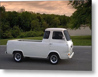 Metal Print featuring the photograph 1962 Ford Econoline Pickup Truck by Tim McCullough