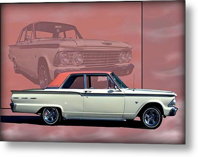 Metal Print featuring the photograph 1962 Ford Fairlane 2 Door Sports Coupe by Tim McCullough