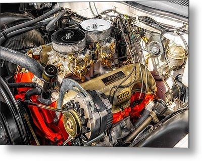 1962 Impala Ss 409 Engine Metal Print