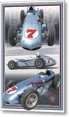 1962 Leader Card 500 Roadster Metal Print