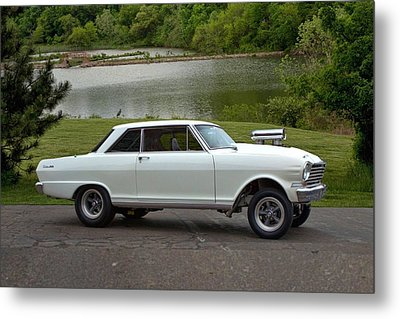 Metal Print featuring the photograph 1963 Chevy II Pro Street Dragster by Tim McCullough