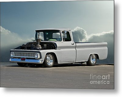 1963 Chevy 'low Rider' Pick-up Truck Metal Print by Dave Koontz
