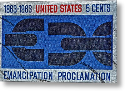 1963 Emancipation Proclamation Stamp Metal Print by Bill Owen