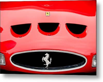 1963 Ferrari 250 Gto Grille Emblem -1753c Metal Print by Jill Reger