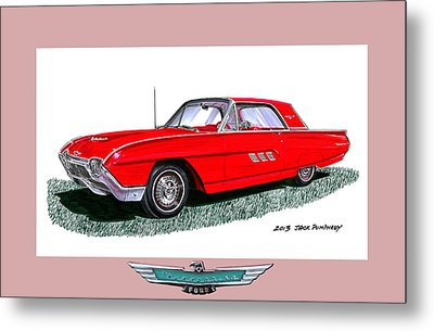 1963 Ford Thunderbird Metal Print by Jack Pumphrey