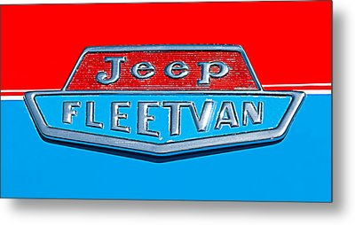 1963 Jeep Fleetwood Emblem Metal Print by Jill Reger