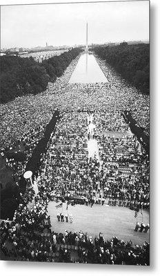 1963 March On Washington Metal Print by Warren Leffler