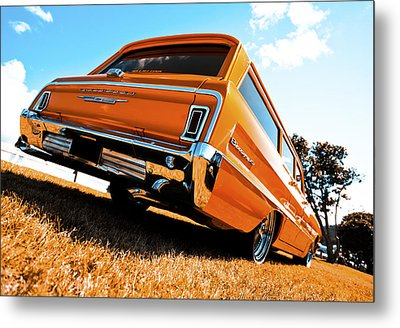 1964 Chevrolet Biscayne Metal Print by motography aka Phil Clark