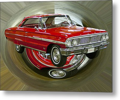 Metal Print featuring the photograph 1964 Ford Galaxie by B Wayne Mullins