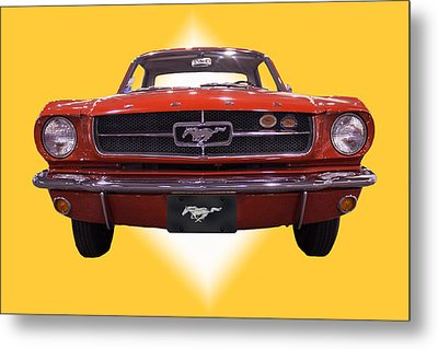 1964 Ford Mustang Metal Print by Michael Porchik