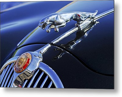 1964 Jaguar Mk2 Saloon Metal Print by Jill Reger