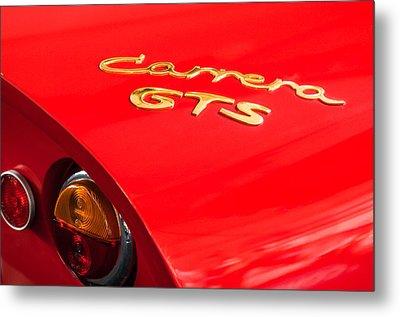 1964 Porsche Carrera Gts Taillight Emblem Metal Print by Jill Reger