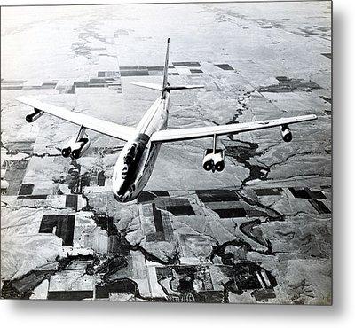 1965 Air Force B-47 In Flight Metal Print