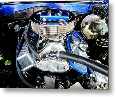 1965 Chevy Chevelle - Under The Hood Metal Print
