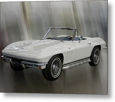 Metal Print featuring the photograph 1965 Chevy Corvette by B Wayne Mullins