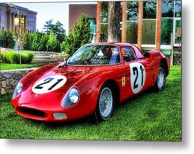 Metal Print featuring the photograph 1965 Ferrari V12 250 Lm by Tim McCullough