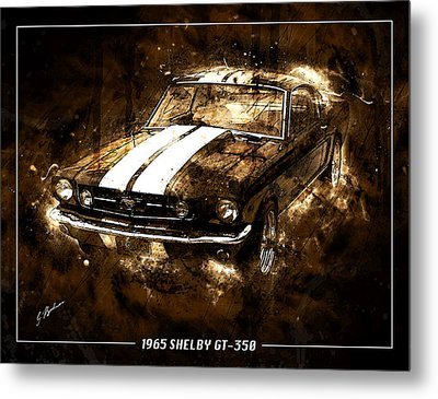 1965 Ford Shelby Mustang Gto-350 #5 Metal Print by Gary Bodnar
