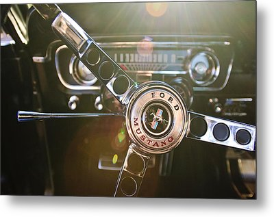 1965 Shelby Prototype Ford Mustang Steering Wheel Emblem Metal Print by Jill Reger