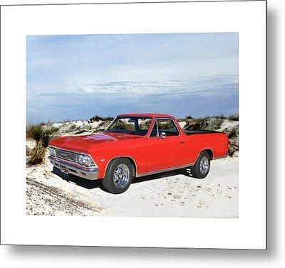 1966 Chevrolet El Camino 327 Metal Print by Jack Pumphrey