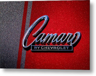 1966 Chevy Camaro Metal Print by David Patterson