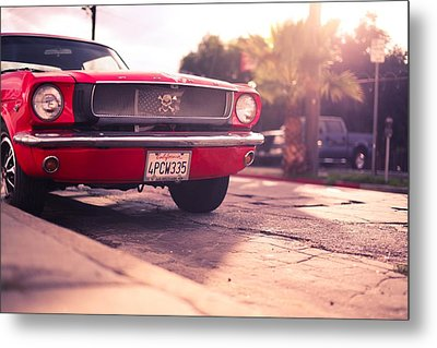 Metal Print featuring the photograph 1966 Ford Mustang Convertible by Gianfranco Weiss
