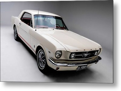 Metal Print featuring the photograph 1966 Gt Mustang by Gianfranco Weiss